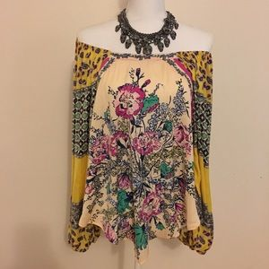 Free People Positano Off-the-Shoulder Blouse XS
